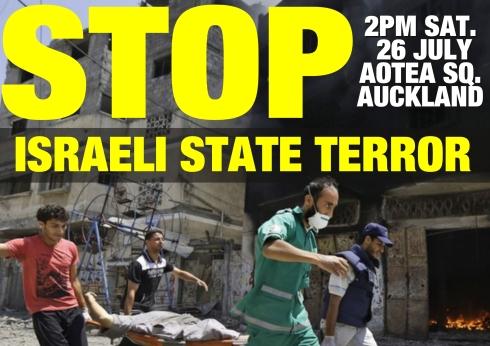 Gaza protest poster - 26 July 2014